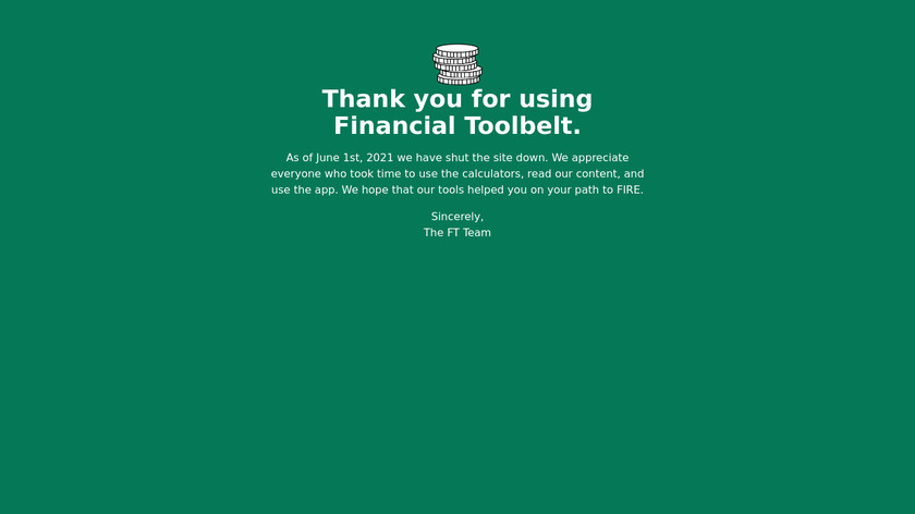 Financial Toolbelt Landing Page