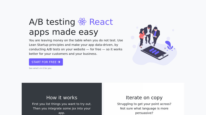 Lean Analytics Landing Page