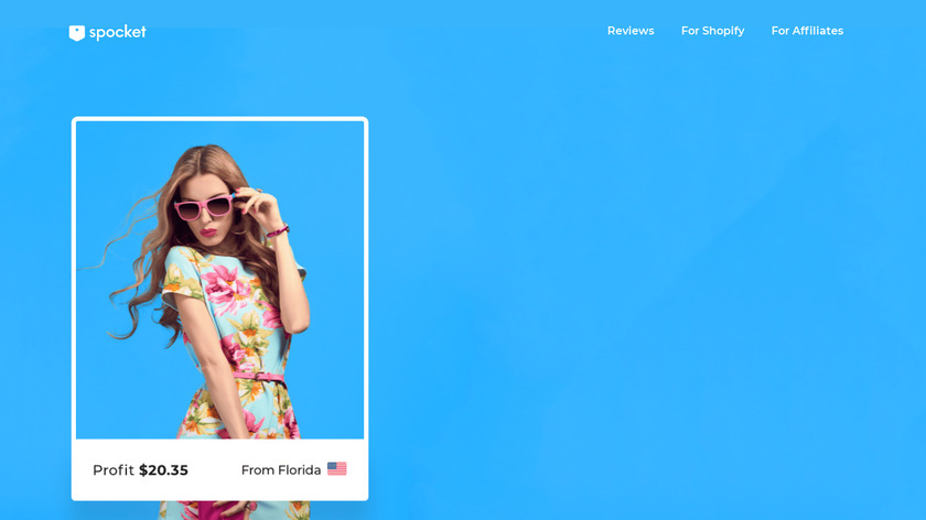 Spocket Dropshipping for WooCommerce Landing Page