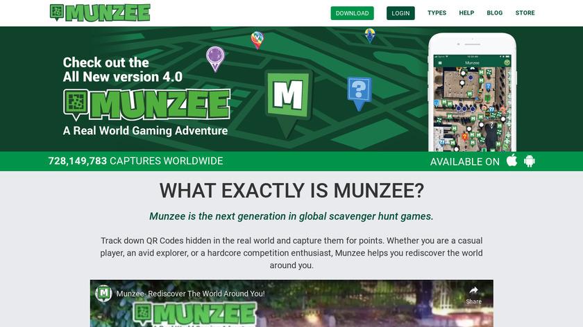 Play Munzee Landing Page