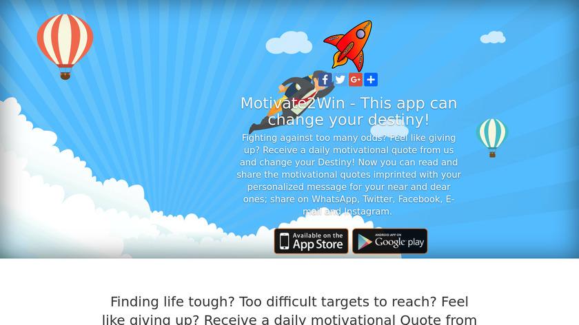 Motivate2WinApp Landing Page