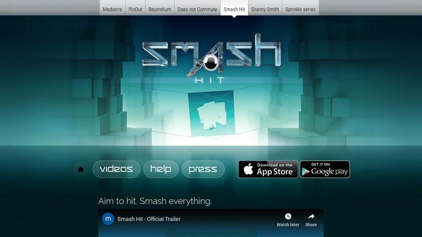 Smash Hit Landing Page