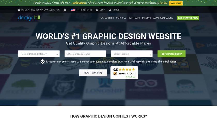 designhill Landing Page