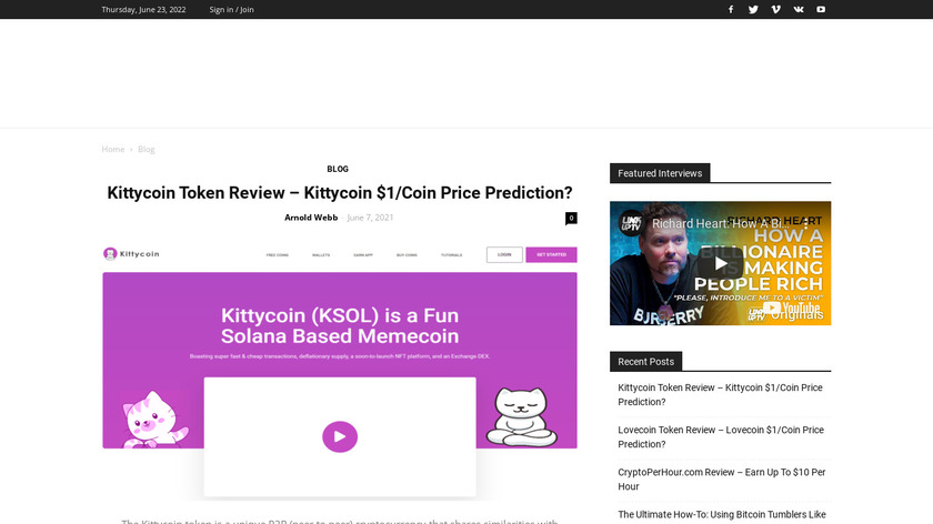 CryptoCelebrity Landing Page
