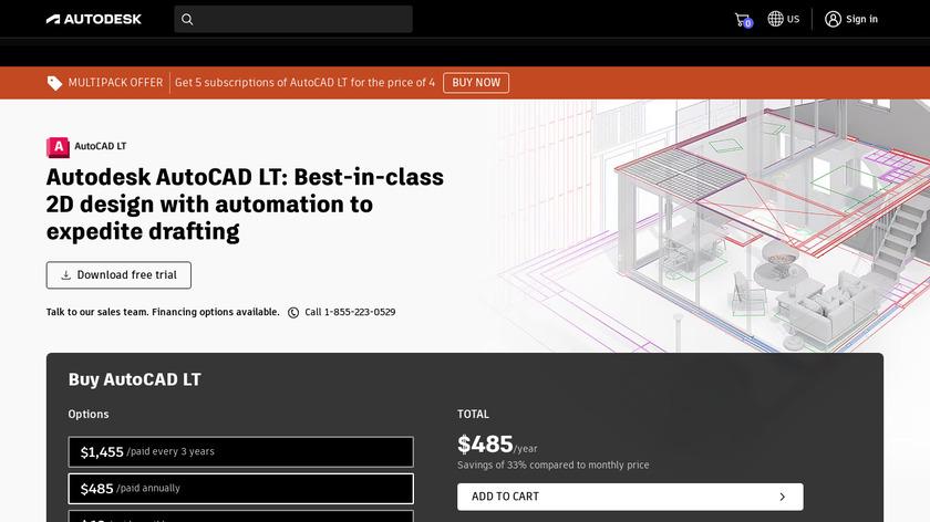 AutoCAD LT Landing Page