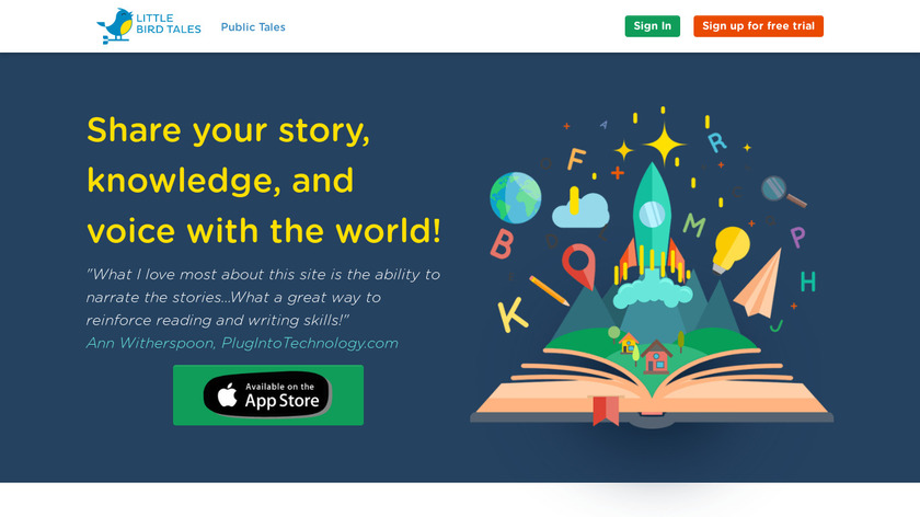 Little Bird Tales Landing Page
