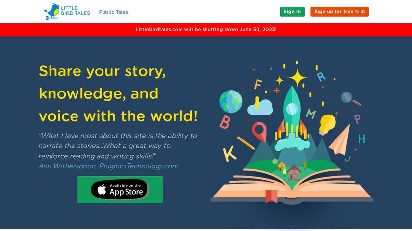 Little Bird Tales Landing Page