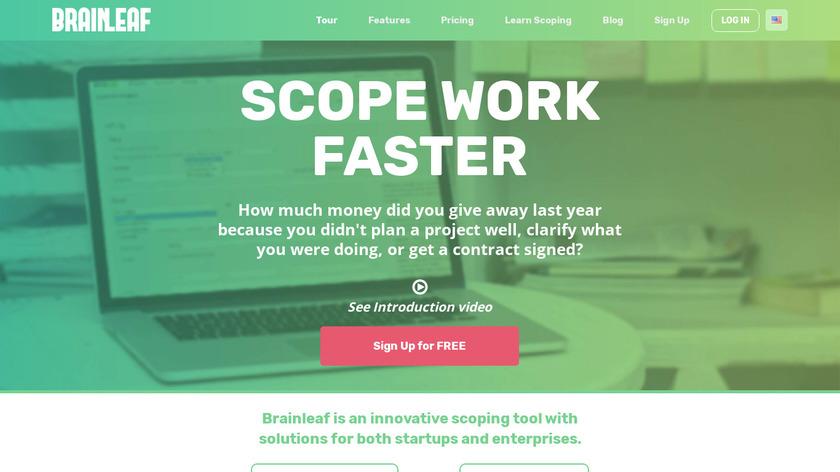 BrainLeaf Landing Page
