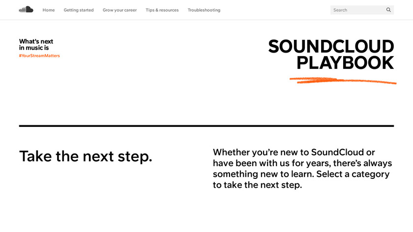 Podcasting on SoundCloud Landing Page