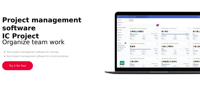 IC Project Landing Page