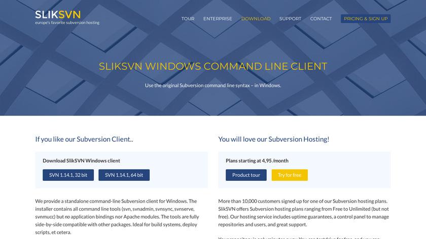 Slik SVN Landing Page