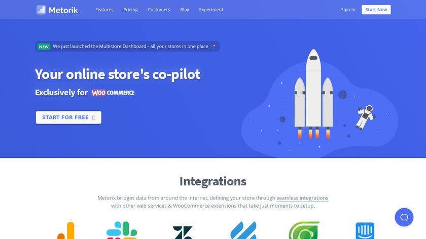 Metorik Landing Page