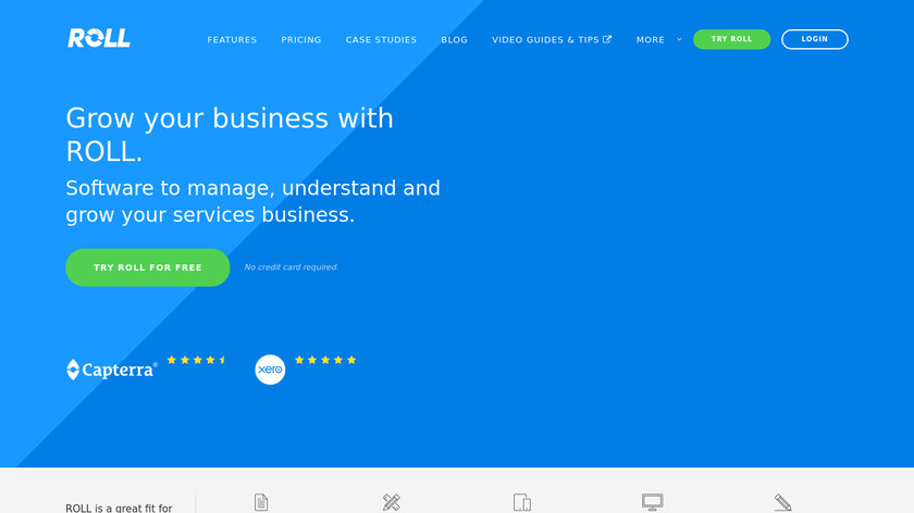 Roll Landing Page