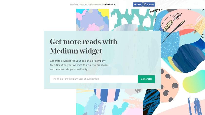 Medium Widget Landing Page