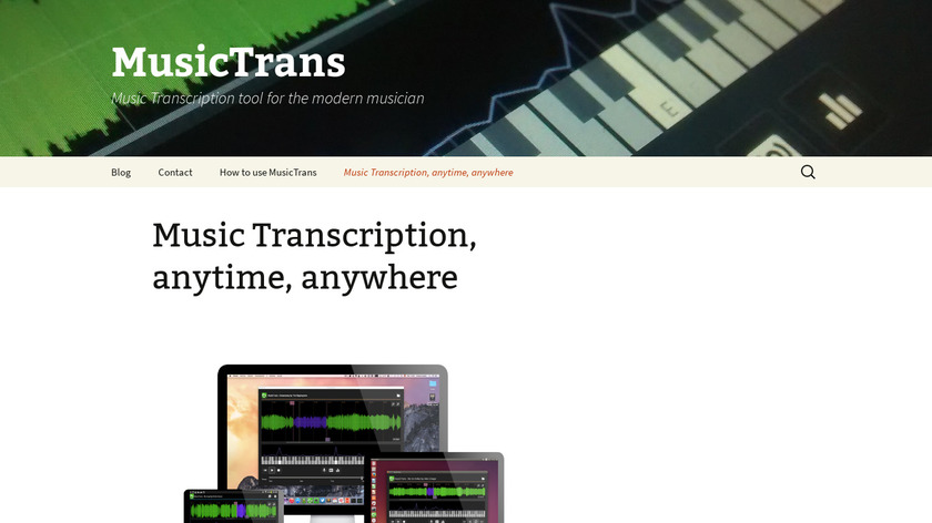 MusicTrans Landing Page