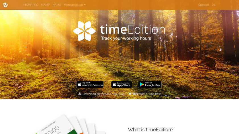 timeEdition Landing Page