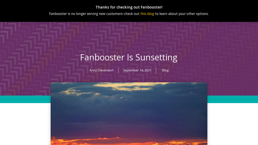 Social Report Landing Page