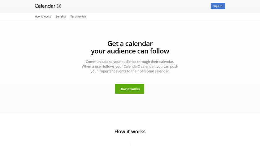 CalendarX Landing Page