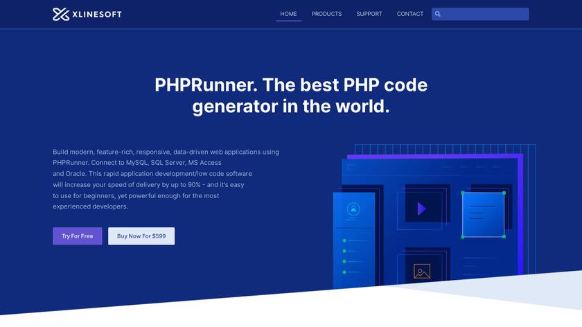 PHPRunner Landing Page