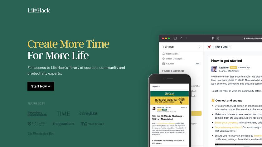 Lifehack Landing Page