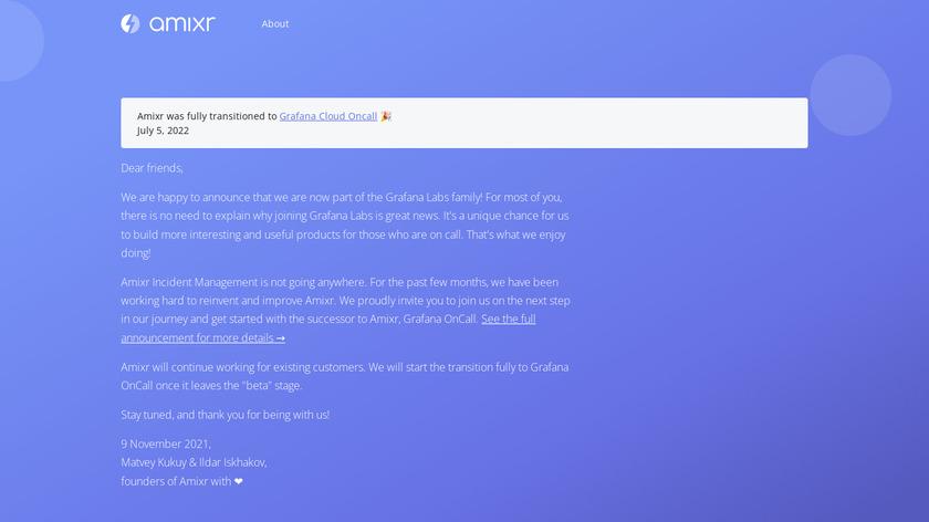 AMIXR Landing Page