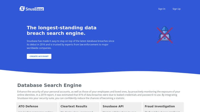 Snusbase Landing Page