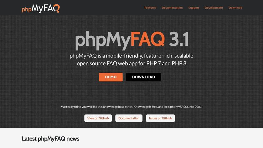 phpMyFAQ Landing Page