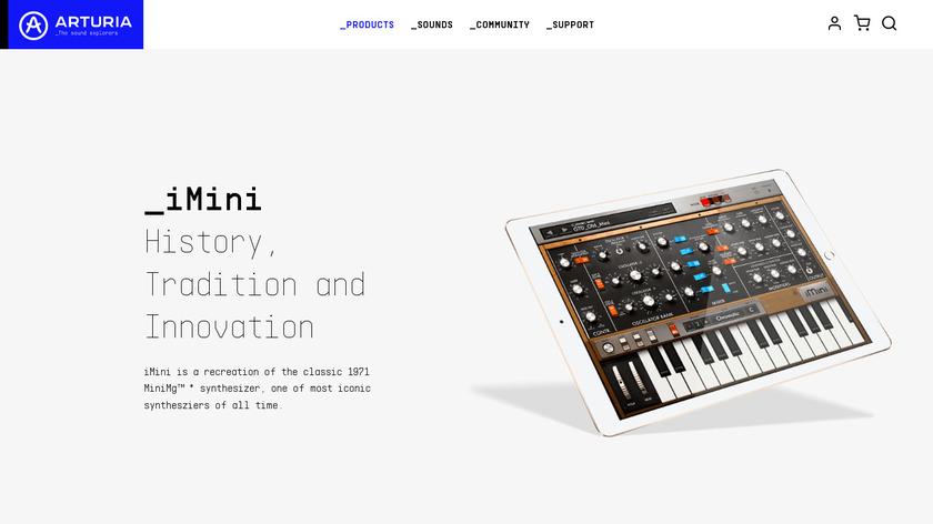 iMini Synthesizer Landing Page