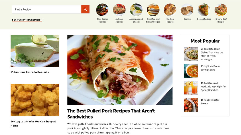 Allrecipes Dinner Spinner Landing Page
