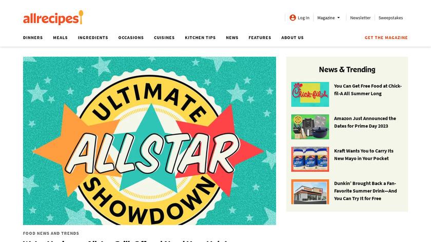 Allrecipes Dinner Spinner Landing Page