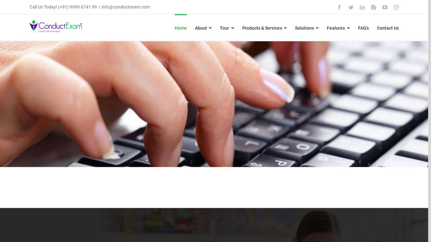 Conduct Exam Landing Page