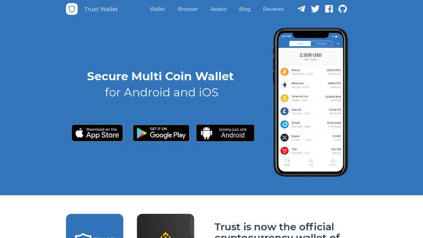 Trust - Ethereum Wallet Landing Page