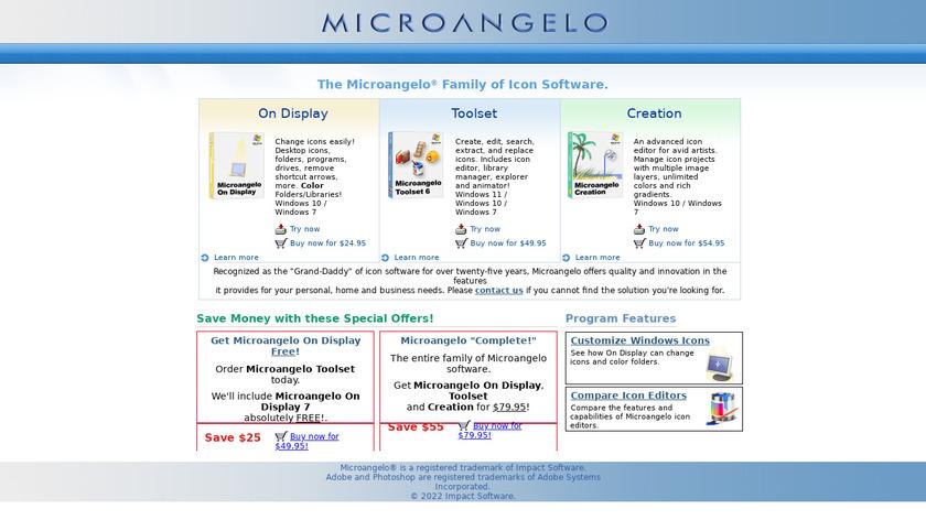 Microangelo Toolset Landing Page