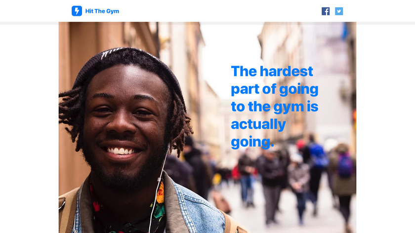 Hit The Gym Landing Page