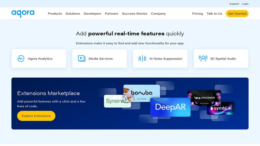 Agora.io Landing Page