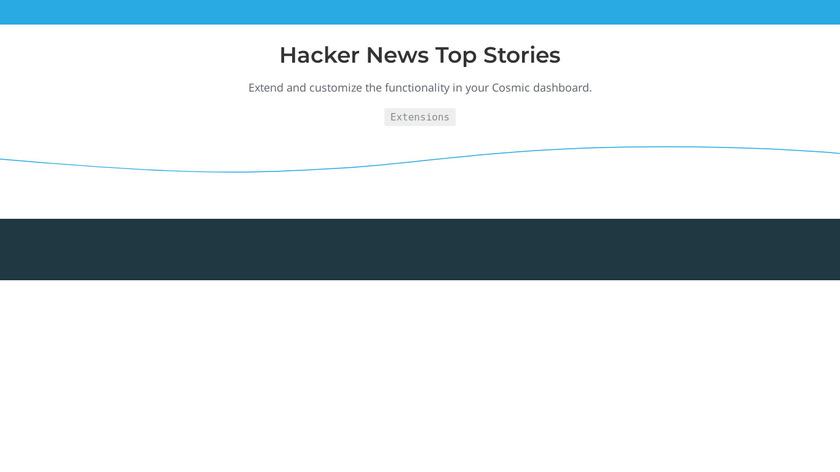 Hacker News Top Stories Landing Page