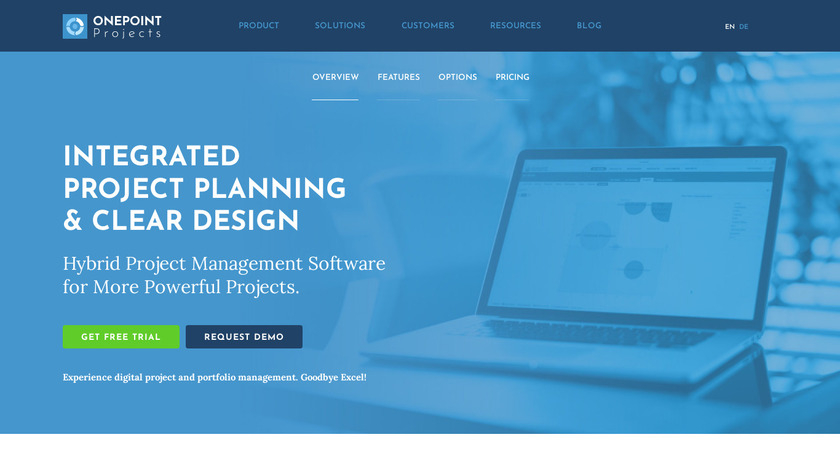 onepoint PROJECTS Landing Page