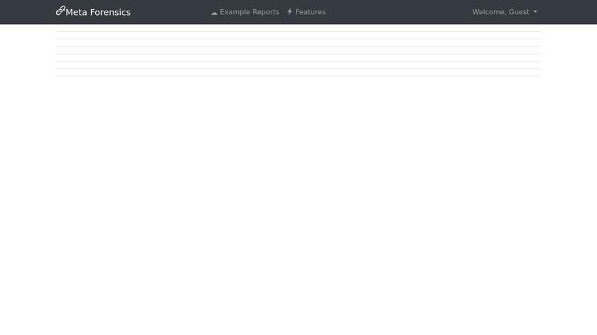Meta Forensics Landing Page