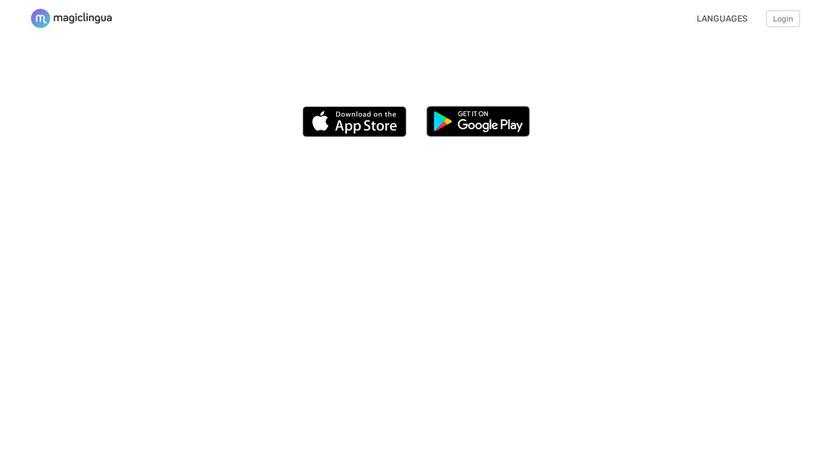 Magiclingua Landing Page
