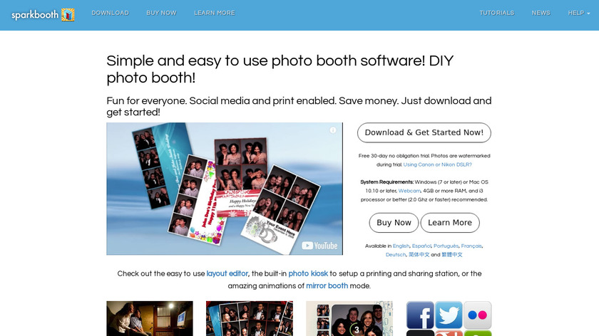 Sparkbooth Landing Page