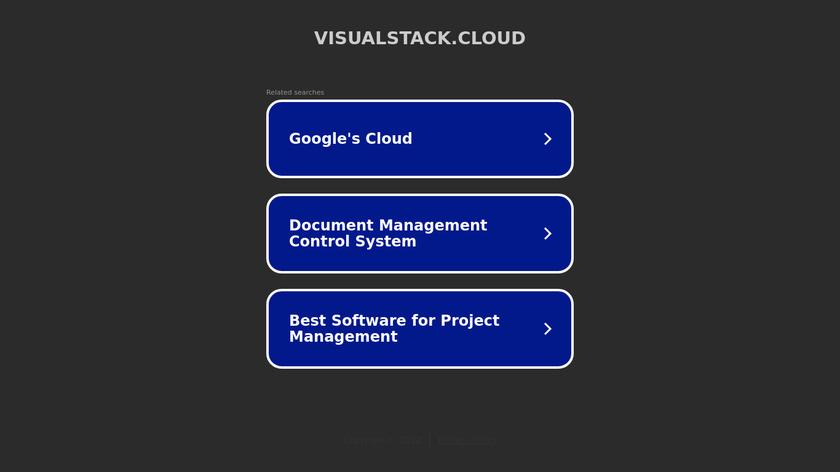 VisualStack.cloud Landing Page