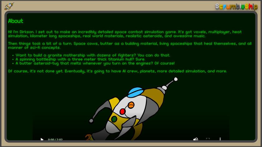 ScrumbleShip Landing Page