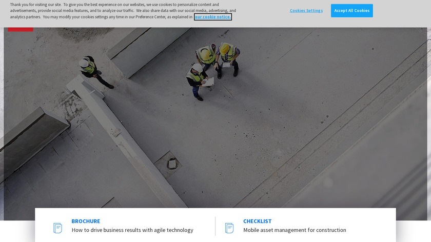 Infor Construction Landing Page