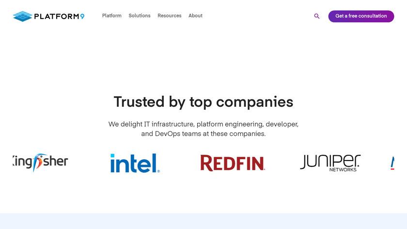 Platform9 Landing Page