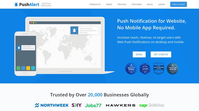 PushAlert Landing Page