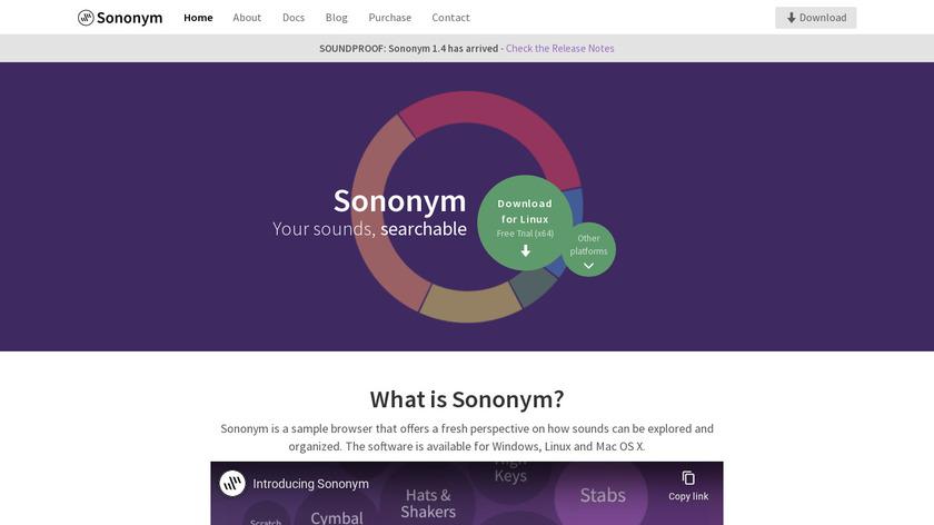 Sononym Landing Page
