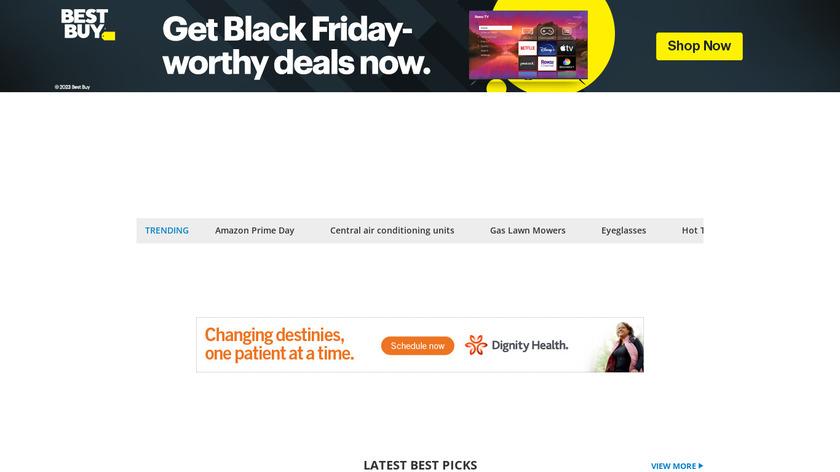 Top Ten Reviews Landing Page