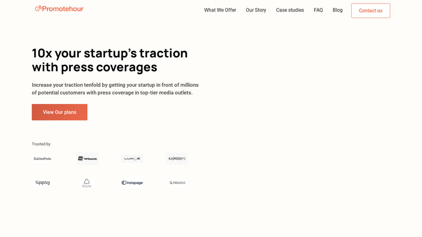 Promotehour Landing Page