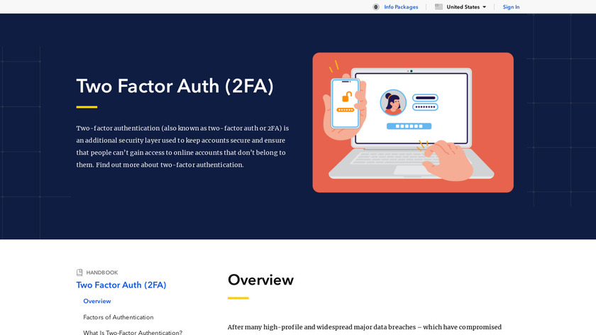 Two Factor Auth (2FA) Landing Page