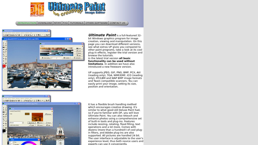 Ultimate Paint Landing Page